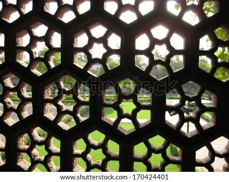 Red Fort in Agra, India - stock photo
