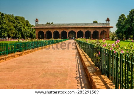 Red Fort in New Delhi, India - stock photo