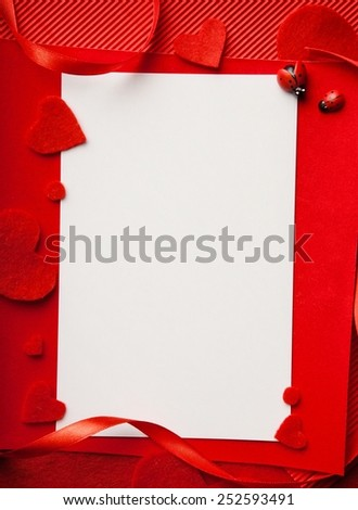 Red frame & background (set #1)