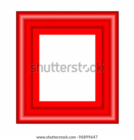 red frame  isolated on white background - stock photo
