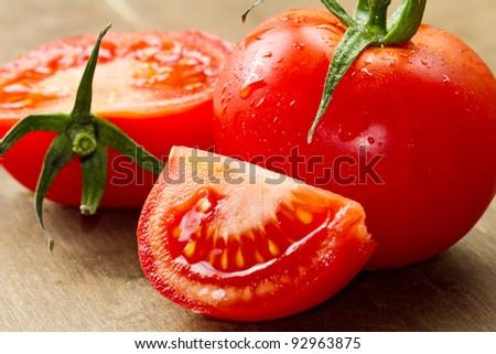 red fresh tomatoes - stock photo