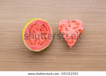Red Fruit, guava - stock photo