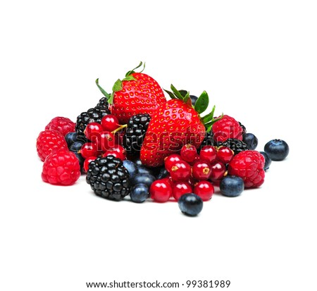 Red fruits - stock photo