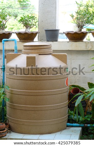 Red fuel tank 500 liters isolated  - stock photo