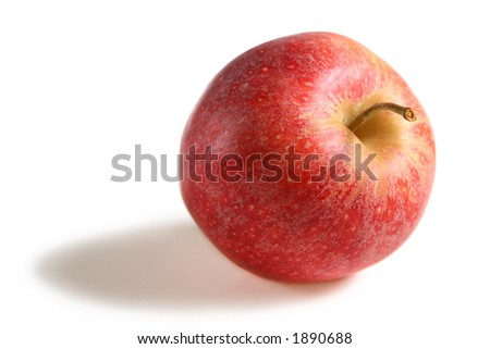 Red Gala Apple on white background