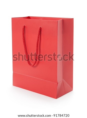 Red gift bag - stock photo