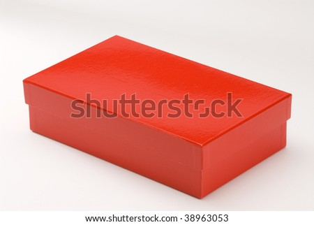 Red  gift box on white background. Isolated.