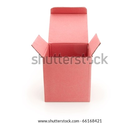 Top View Open Gift Box Red Gift Box With Top Lid Open