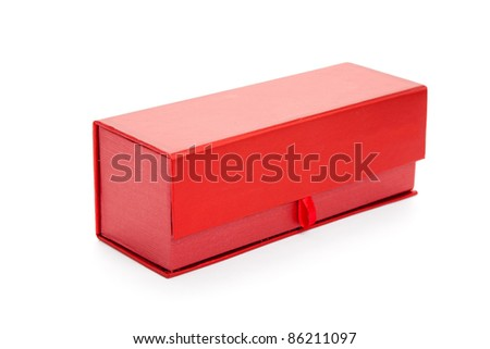 Red Gift Box with white background