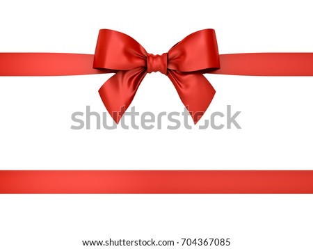 Red gift ribbon bow isolated on stock illustration 704367085 red gift ribbon bow isolated on white background 3d rendering negle Images