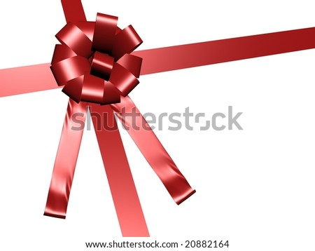 Red gift wrap ribbon
