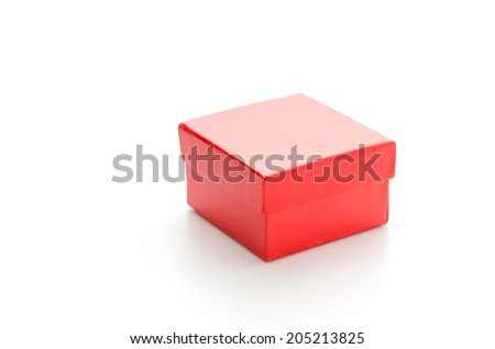 Red giftbox isolated on white