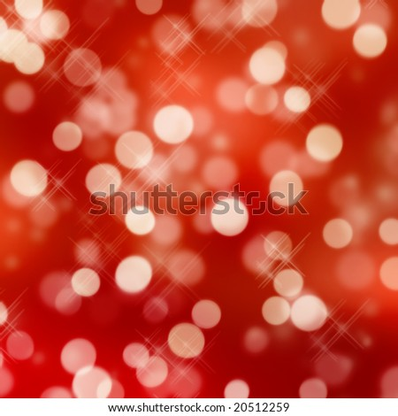 red glittering lights - stock photo