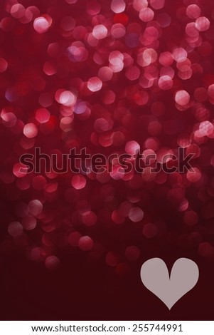 Red glittering valentines lights. Blurred abstract background - stock photo