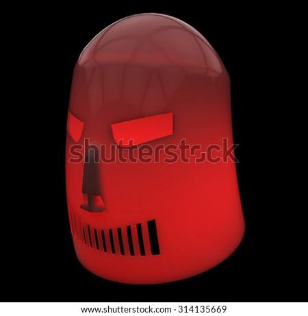Red gloomy mask - stock photo