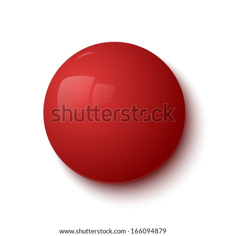 Red glossy button - stock photo