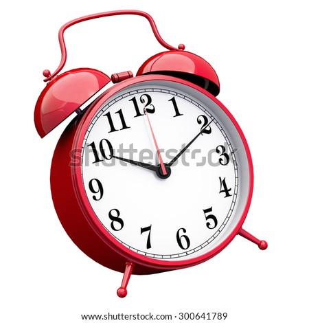 Red glossy Clock