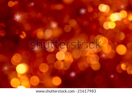 red glowing christmas background - stock photo