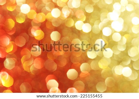 Red, gold, orange sparkle background, soft lights, Christmas background  - stock photo