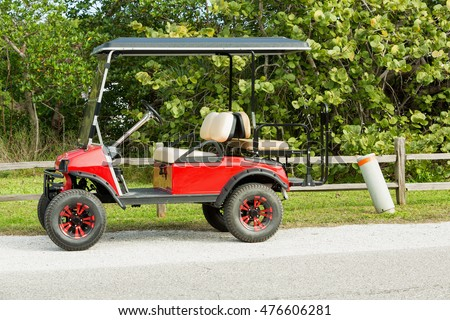 Red Golf cart, Cape Coral, Florida