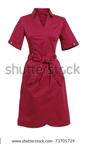 red gown - stock photo