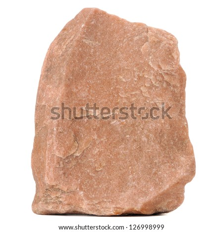 Red Granite Stone Isolated on White Background - stock photo