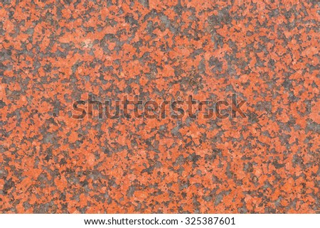 Red granite stone texture from nature use for background - stock photo