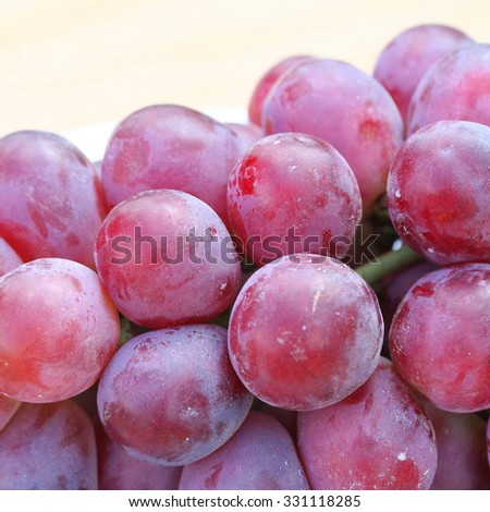 Red grape berries