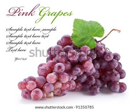 Red grape isolated on a white background - stock photo