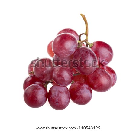red grape isolated on white - stock photo