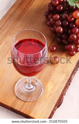 red grape juice in a wine glass