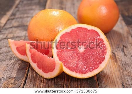 red grapefruit - stock photo