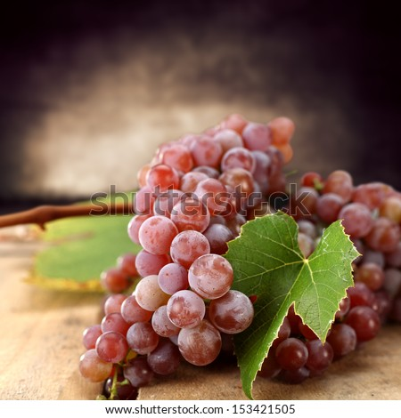 red grapes fruits  - stock photo