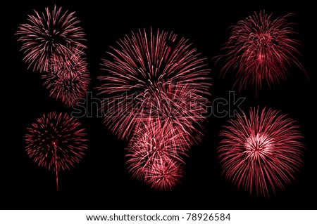 red graphic firework set