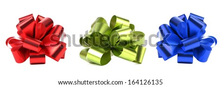 Red green and blue packaging band. Isolated on a white background. - stock photo