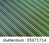 Red, green and white diagonal lines - stock photo