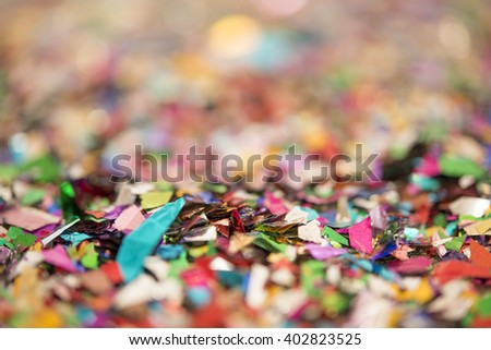 red green blue background bokeh. abstract backdrop circles for Christmas background. Selective focus. - stock photo