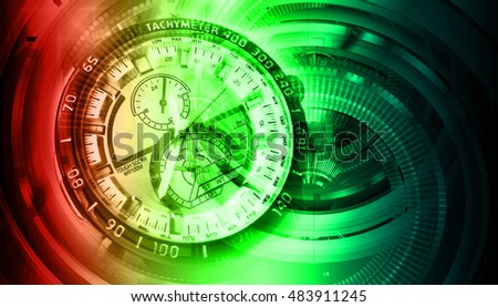 red green blue illustration of technology internet network computer background with binary number, style. infographics. Information. motion blur. pixel. Binary digit. number. Odometer,clock, watch