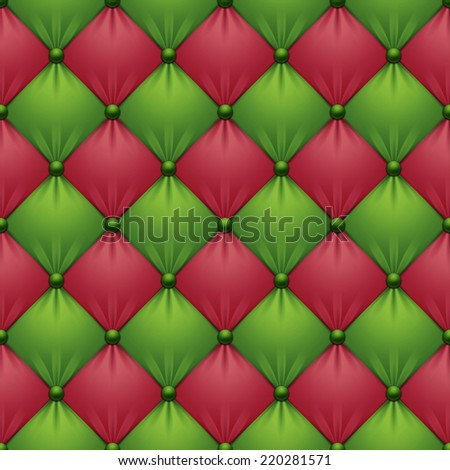 Red Green Christmas Sofa Upholstery Seamless Stock Illustration ...