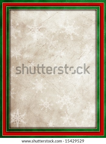 Red & green with snowflakes textured background - stock photo