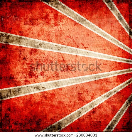 Red grunge background with shapes