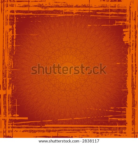 red grunge background with  shapes - stock photo
