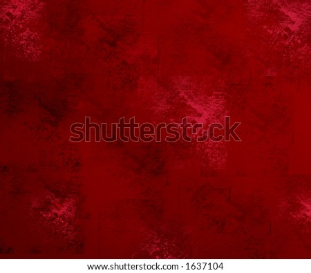 Red Grunge, old Style - stock photo