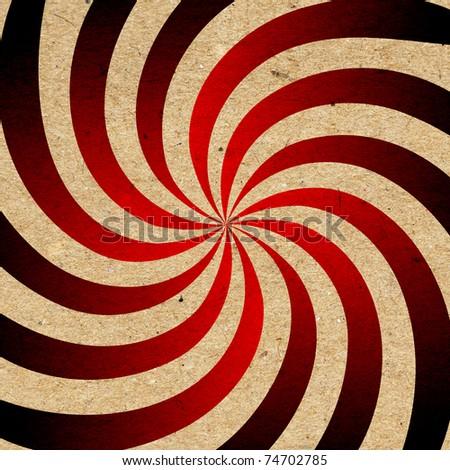 Red grunge swirl background - stock photo