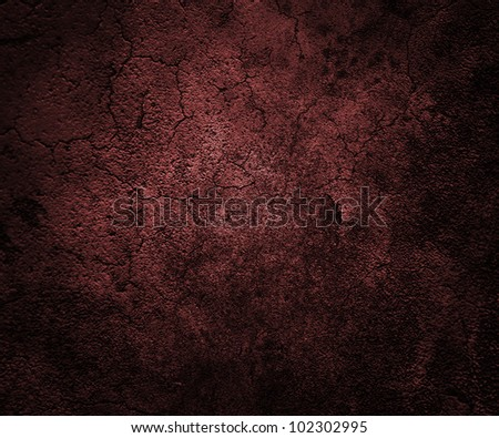 Red Grunge Wall - stock photo