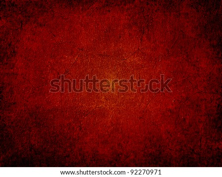 Red grunge wall background - stock photo