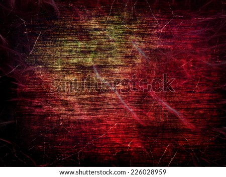 Red grungy scratched texture as abstract background.Digitally generated image. - stock photo