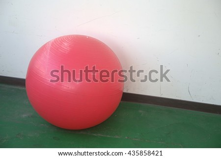 red gym ball - stock photo