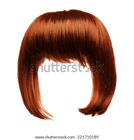 red hair isolated - stock photo