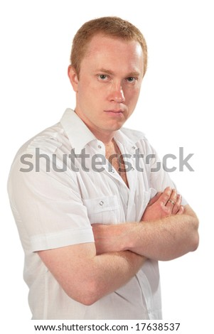 Red-haired man posing